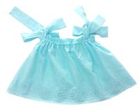 Топ для дівчинки батистовий, блакитний на зав'язках