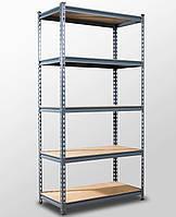 191х91х45, 5 полок МДФ 250 кг на полку Стеллаж Unirade металлический крашеный полочный для дома в офис склад