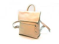 Стильный кожаный  рюкзак с клапаном, фото 1