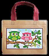 Набір-сумка для вишивання бісером «Дві сови», Abris art