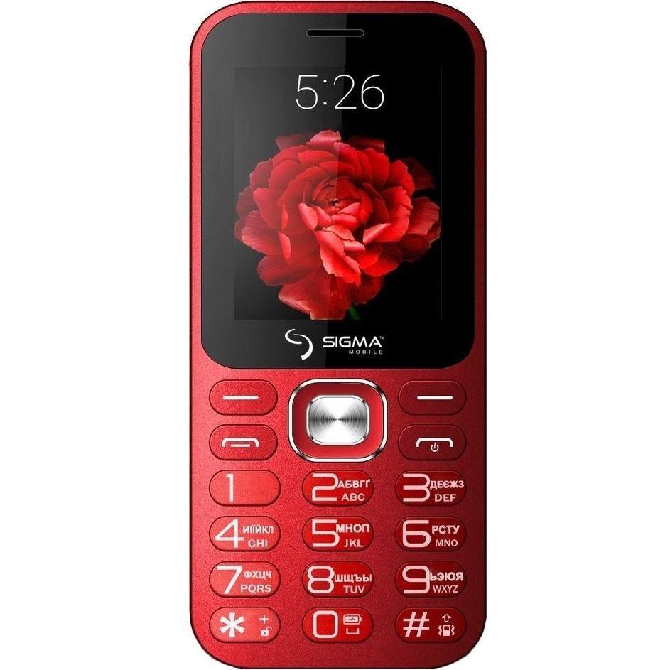 Телефон-bluetooth колонка с мощным фонариком и мощной батареей с функцией PowerBank Sigma Boombox красный