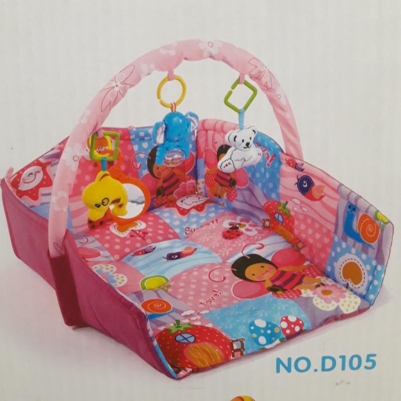 Детский развивающий коврик D106 с бортиками, светом и музыкой