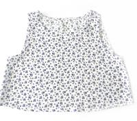Топ для дівчинки батистовий, біло-синій