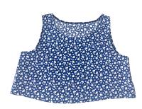 Топ для дівчинки батистовий, синьо-білий