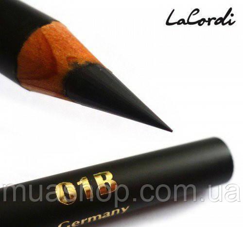 """Восковый карандаш для бровей LaCordi """"Care & Easy"""" №01B Черная земля"""
