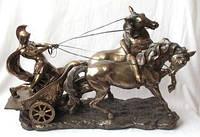 """Настольная статуэтка """"Римская колесница"""" из полистоуна с бронзовым напылением Veronese"""