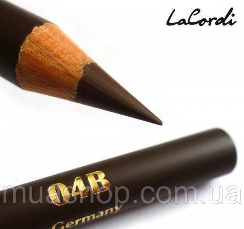 """Восковый карандаш для бровей LaCordi """"Care & Easy"""" №04B Темно-коричневый"""
