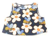 Топ для дівчинки синій, з бджілками