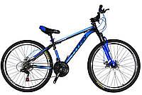 🚲Горный стальной дисковый велосипед TITAN FOCUS DD (Shimano, моноблок); рама 15; колеса 26, фото 1