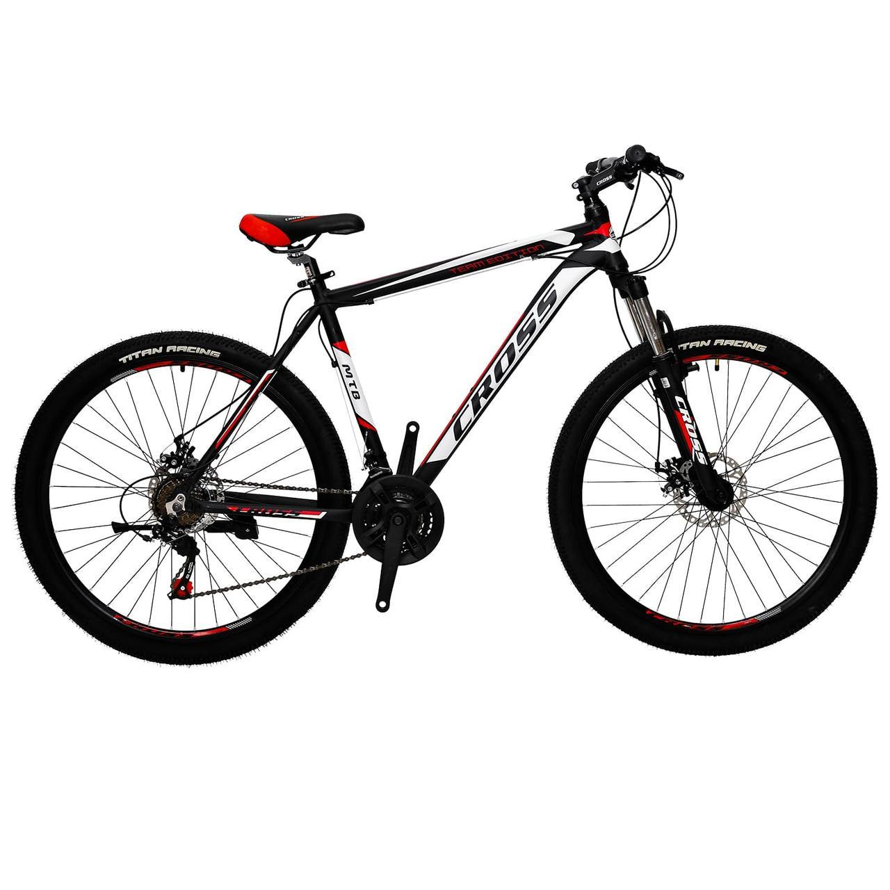 🚲Горный алюминиевый велосипед CROSS HUNTER (Shimano, Lockout); рама 19; колеса 27,5