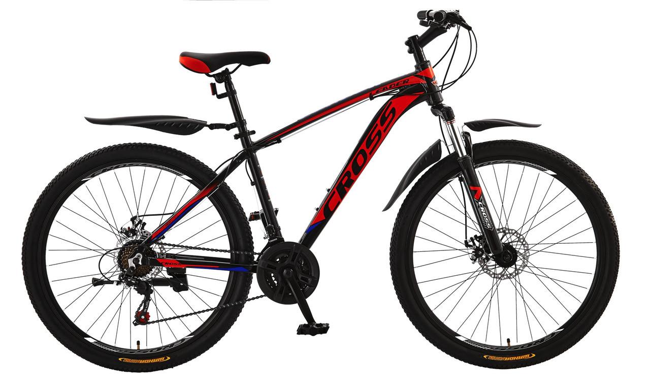 🚲Горный алюминиевый велосипед CROSS LEADER (Disk, моноблок, 21 speed); рама 17; колеса 27,5