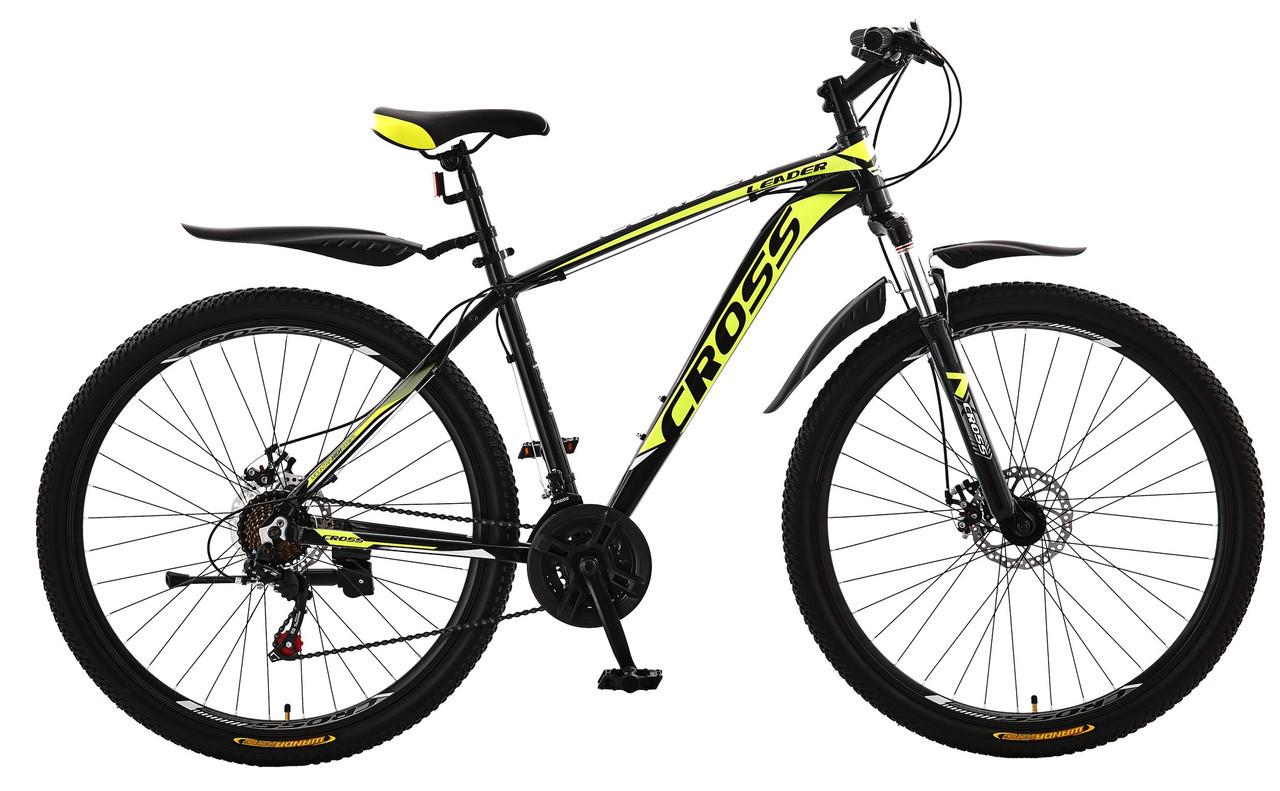 🚲Горный алюминиевый велосипед CROSS LEADER (Disk, моноблок, 21 speed); рама 19; колеса 29
