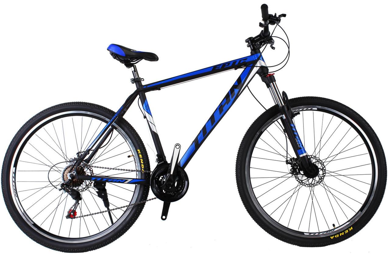 🚲Горный алюминиевый велосипед TITAN EPIC DD (Shimano, моноблок, Lockout); рама 21; колеса 29