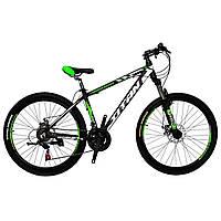 🚲Горный алюминиевый велосипед TITAN EXPERT DD (Shimano, моноблок, Lockout); рама 16; колеса 26, фото 1