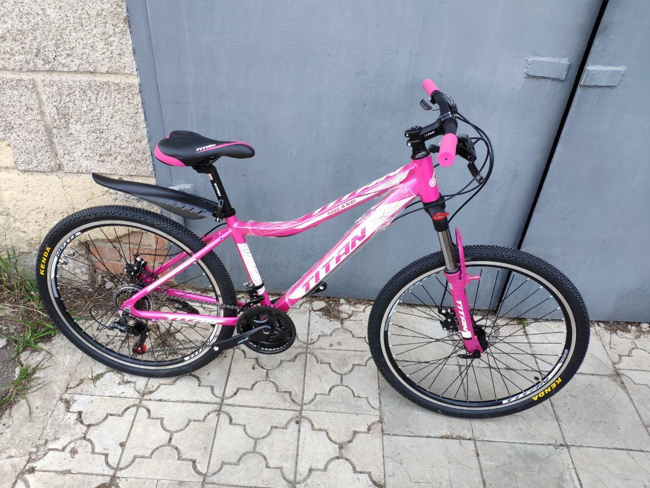 🚲Горный алюминиевый велосипед TITAN MILANO (21 speed, Lockout, Shimano); рама 16; колеса 26