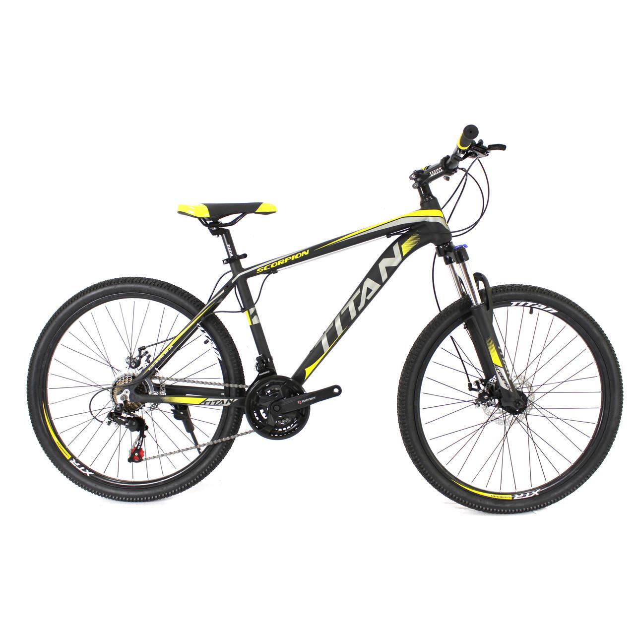 🚲Горный алюминиевый велосипед TITAN SCORPION DD; рама 17; колеса 26