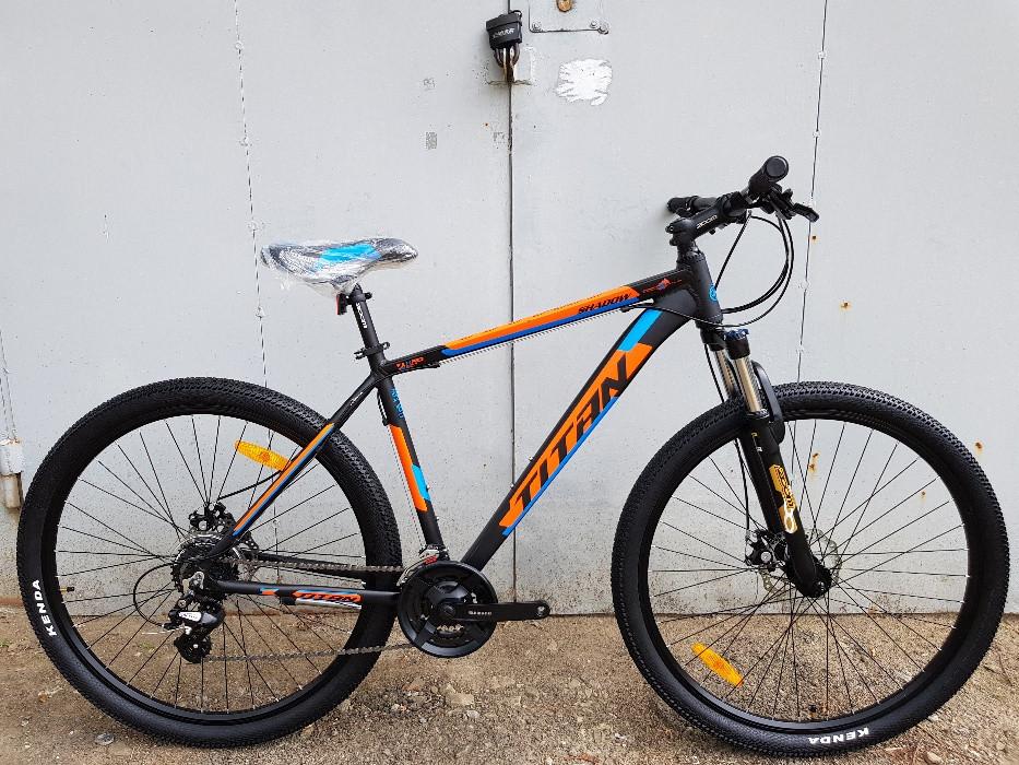 🚲Горный алюминиевый велосипед TITAN SHADOW DD 2018 (Shimano, 24sp, Lockout); рама 19; колеса 26