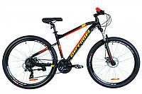 🚲Горный алюминиевый дисковый велосипед Optima F-1 DD 2019 (Shimano, моноблок, LockOut, 100mm); рама 18; колеса 27,5, фото 1
