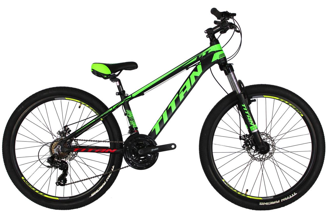 🚲Горный алюминиевый подростковый велосипед TITAN GT DD 2019; рама 13; колеса 26