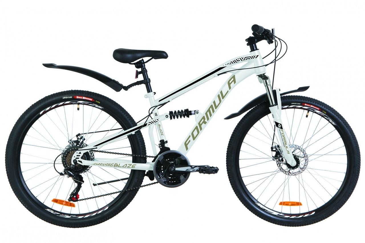 🚲Горный стальной велосипед двухподвесник Formula BLAZE DD 2019 (Shimano); колеса 26