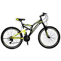 🚲Горный стальной велосипед двухподвесник Titan GHOST (Shimano, моноблок); рама 18; колеса 26, фото 1