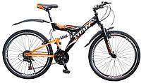 🚲Горный стальной велосипед двухподвесник Titan Tornado (Shimano, моноблок); рама 18; колеса 26, фото 1