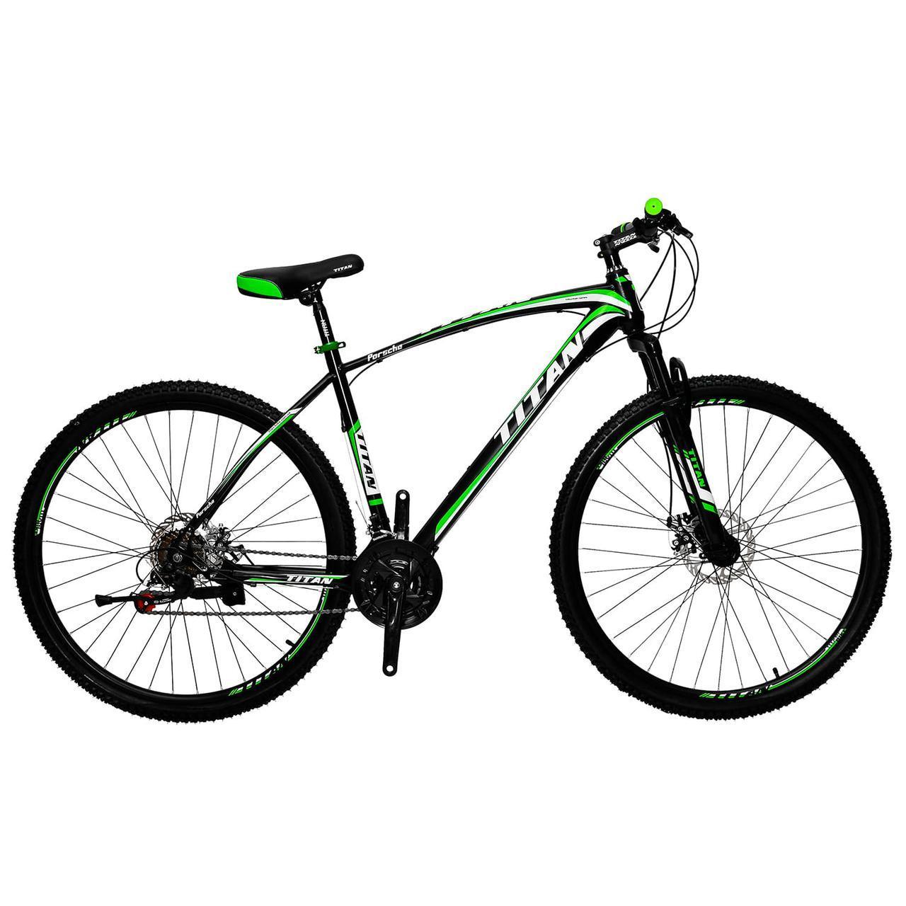🚲Горный стальной велосипед найнер TITAN PORSCHE DD (Shimano, моноблок); рама 19,5; колеса 29