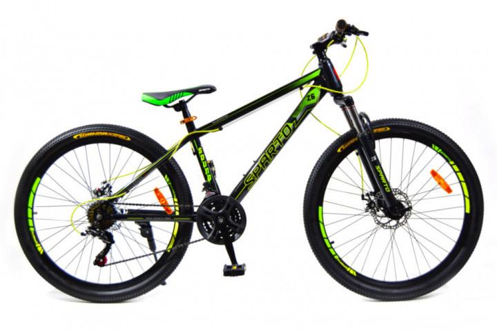 🚲Горный стальной велосипед BENETTI SOUND DD 2018 (Shimano, моноблок); рама 15; колеса 26