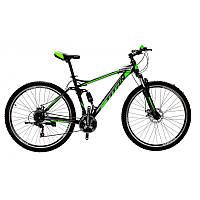 🚲Горный стальной велосипед двухподвесник Titan VIPER (Shimano, моноблок); рама 18; колеса 29