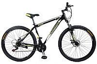 🚲Горный стальной велосипед CROSS SHARK (Disk, моноблок, 21 speed); рама 17; колеса 29