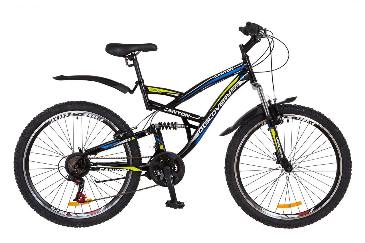 🚲Горный стальной велосипед Discovery CANYON 2018; рама 19; колеса 26