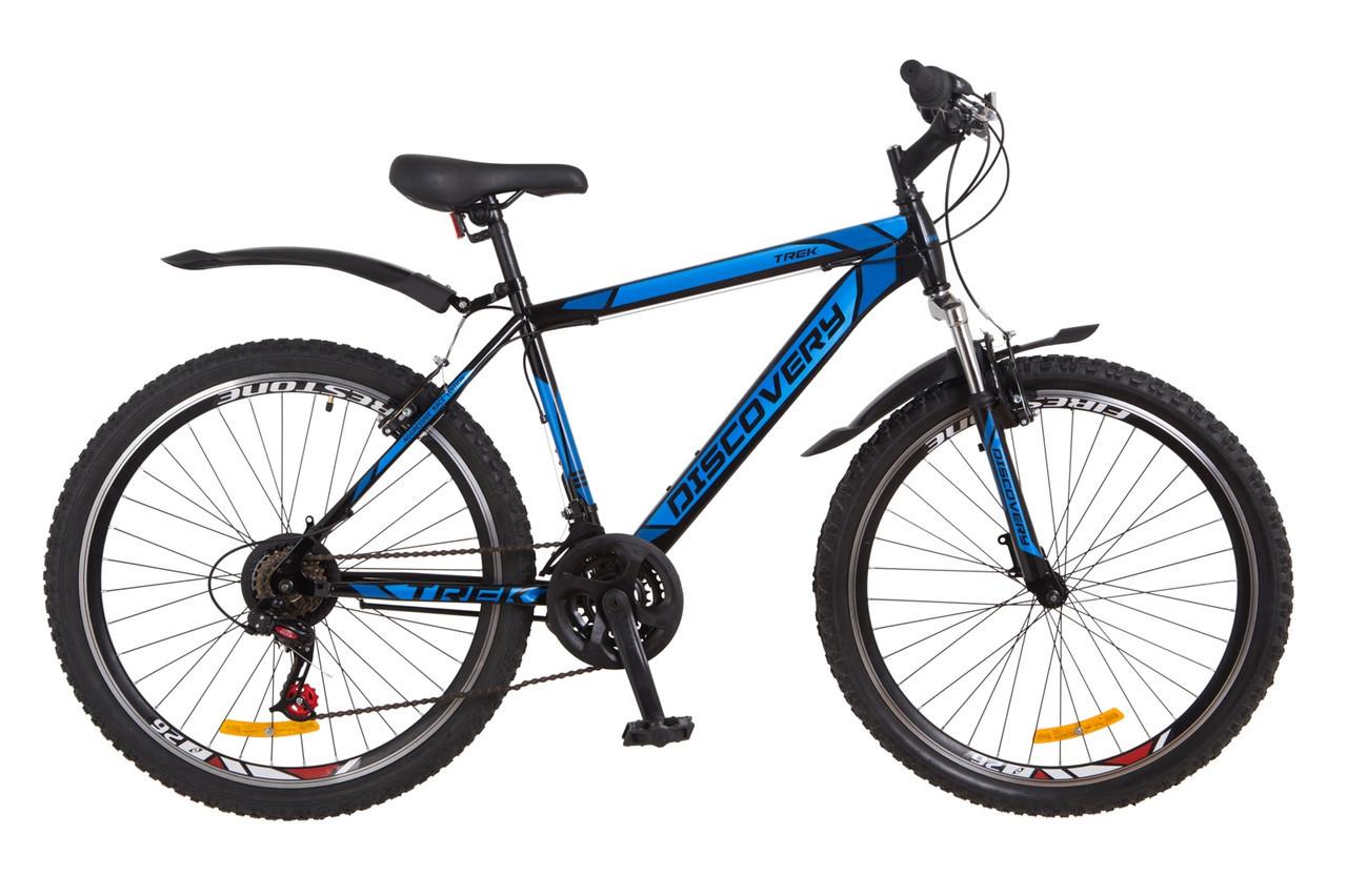 🚲Горный стальной велосипед Discovery TREK 2018; рама 15; колеса 26