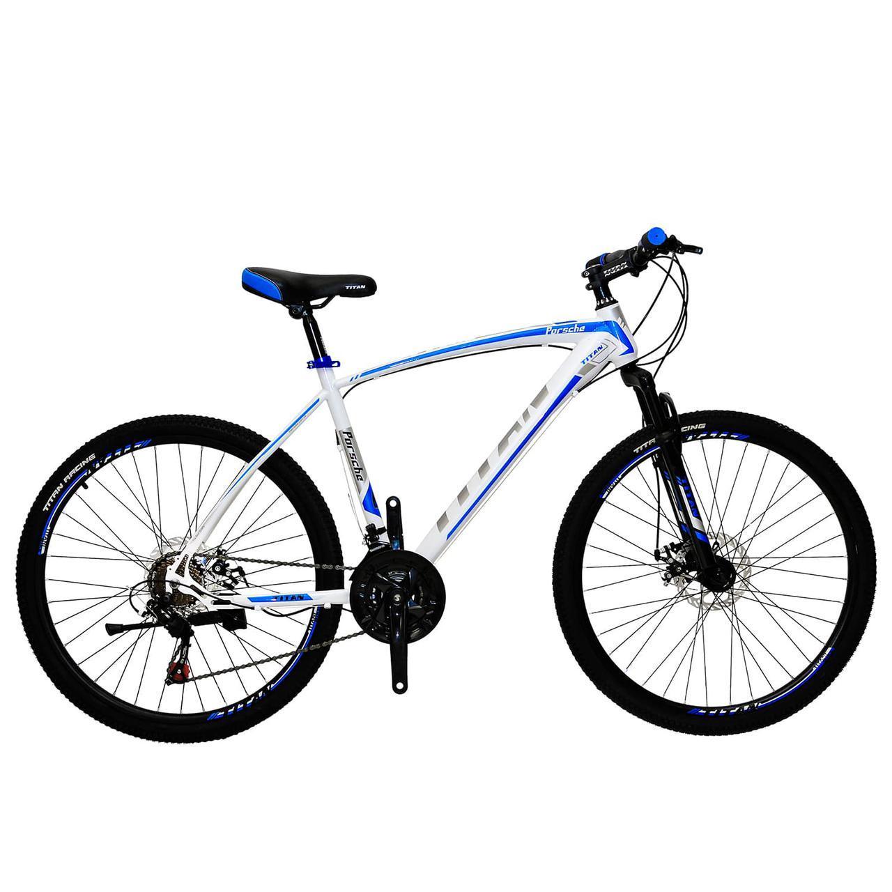 🚲Горный стальной велосипед TITAN PORSCHE DD (Shimano, моноблок); рама 19; колеса 26