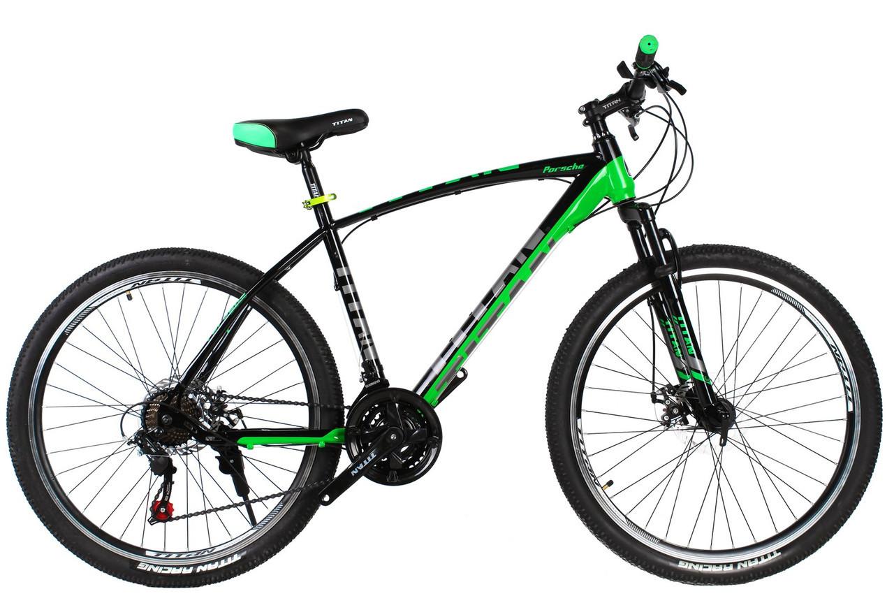 🚲Горный стальной велосипед TITAN PORSCHE DD 2019 (Shimano, моноблок); рама 19; колеса 26