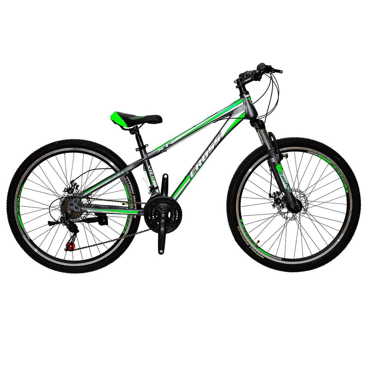 🚲Горный стальной дисковый велосипед (взросло-подростковый) CROSS RACER (21 speed, полуавтоматы); рама 13; колеса 26