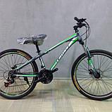 🚲Горный стальной дисковый велосипед (взросло-подростковый) CROSS RACER (21 speed, полуавтоматы); рама 13; колеса 26 , фото 2