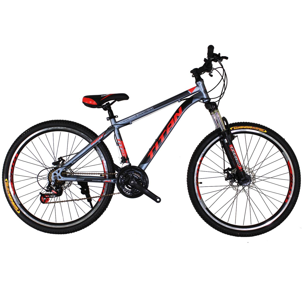 🚲Горный стальной дисковый велосипед TITAN PROTEY DD (Shimano, моноблок); рама 19; колеса 26