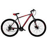 🚲Горный стальной дисковый велосипед TITAN SPIDER DD (Shimano, моноблок); рама 15; колеса 26, фото 2