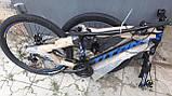 🚲Горный стальной дисковый велосипед TITAN SPIDER DD (Shimano, моноблок); рама 15; колеса 26, фото 6