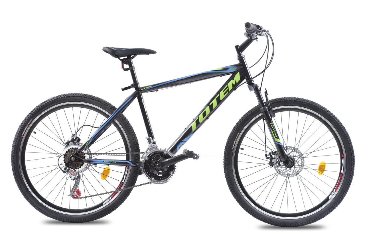 🚲Горный стальной дисковый велосипед TOTEM HD; рама 17; колеса 26