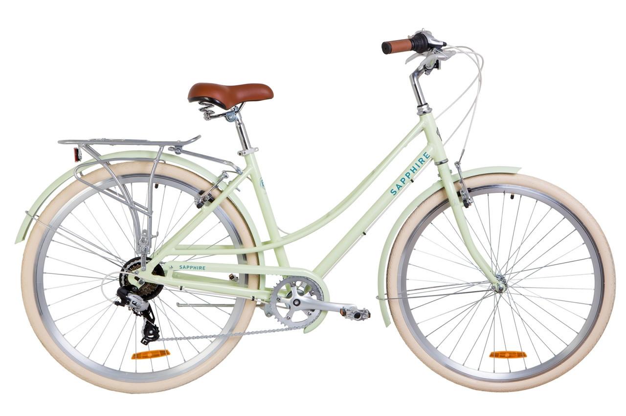 🚲Городской алюминиевый женский велосипед DOROZHNIK SAPPHIRE 2019 ( 7 speed); рама 19; колеса 28