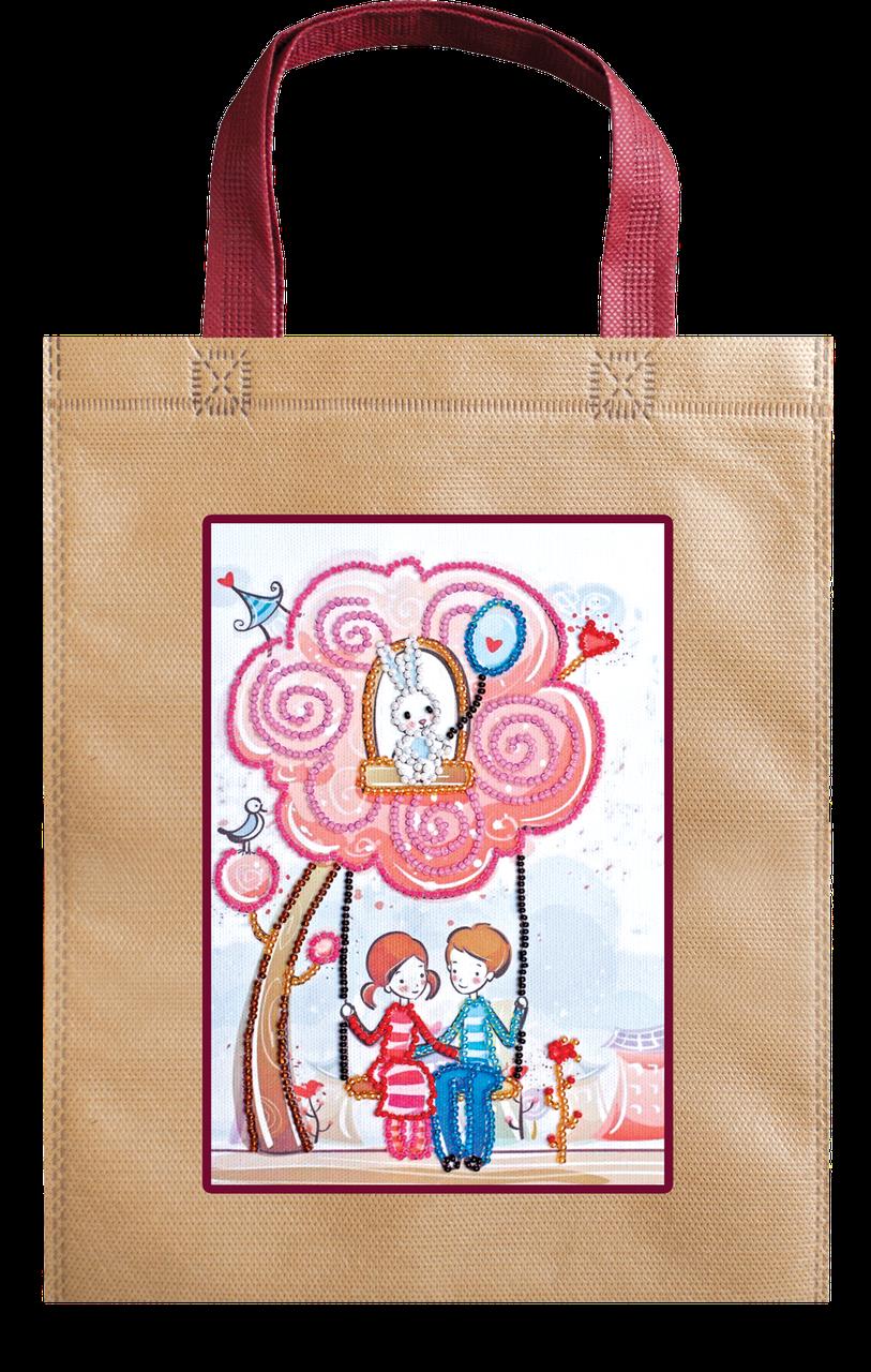 Набір-сумка для вишивання бісером «Гойдалка», Abris art