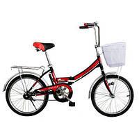 🚲Детский (городской) стальной складной велосипед TITAN ДЕСНА; рама 14; колеса 20