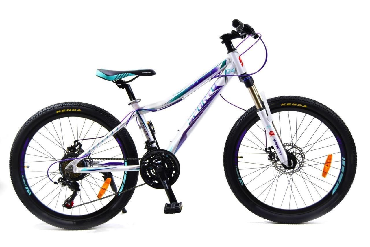 🚲Подростковый алюминиевый велосипед BENETTI Lucki DD; рама 13; колеса 24