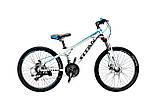 🚲Подростковый алюминиевый дисковый велосипед TITAN FLASH (Shimano, 21 speed, моноблок); рама 12; колеса 24, фото 3