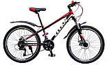 🚲Подростковый алюминиевый дисковый велосипед TITAN FLASH (Shimano, 21 speed, моноблок); рама 12; колеса 24, фото 5