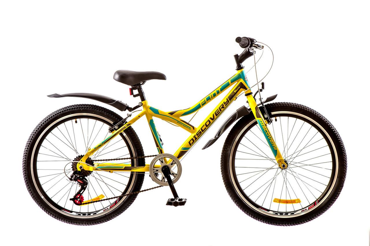 🚲Подростковый стальной велосипед Discovery FLINT 2017; колеса 24