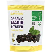 """Органический порошок аристотелии чилийской California GOLD Nutrition, Superfoods """"Organic Maqui Powder""""(240 г)"""