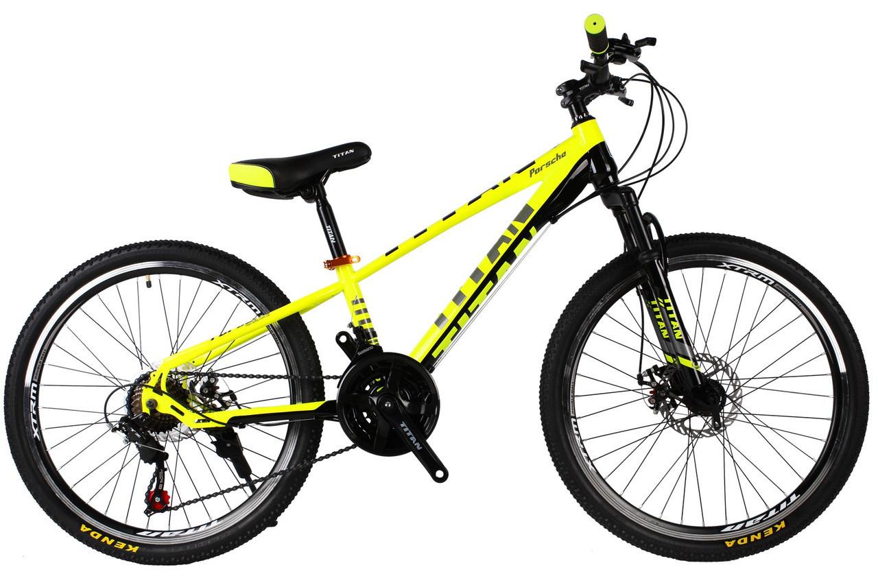 🚲Подростковый стальной велосипед TITAN PORSCHE DD  (21 speed, Shimano, полуавтоматы); рама 11; колеса 24