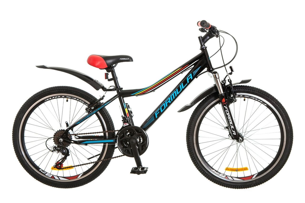 🚲Подростковый стальной горный велосипед FORMULA FOREST(Shimano, 21 speed, моноблок); рама 12,5; колеса 24
